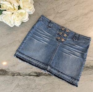 Just USA Mini Denim Skirt